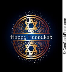 Happy Hannukah illustration - Vector Hannukah illustration