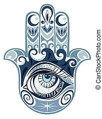 Hamsa - Design of Hamsa with eye