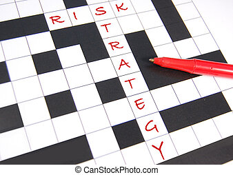 Risk management - Risk strategy concept illustrated through...