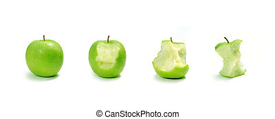 Apple evolution - Conceptual image of various stages of an...