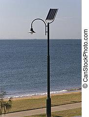 Solar energy - Street lamp poles powered by solar energy