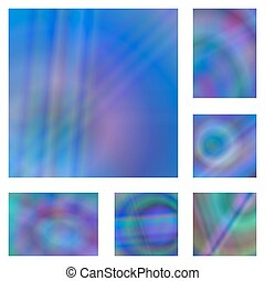 Blue colorful gradient abstract background set - Blue...