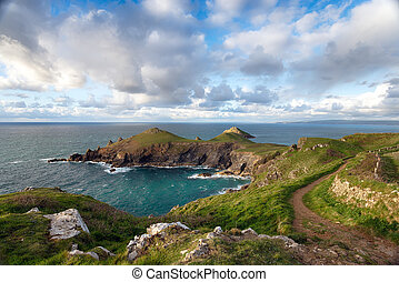Cornwall Coast - The South West Coast Path on the north...