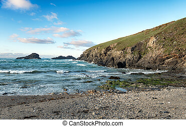 Porth Mear Cove on the South West Coast Path between...