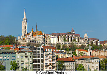 Fishermans Bastion - View of Fishermans Bastion in Budapest...