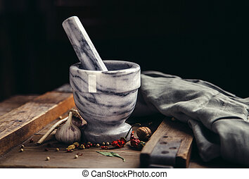 Spice and Mortar with Pestle