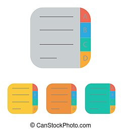 note icon on the white background. Vector illustration.