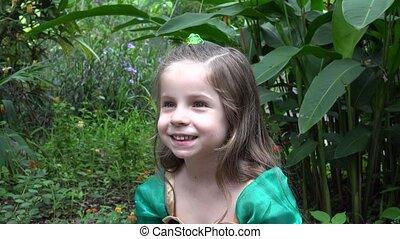 Princess in Flower Garden