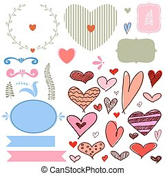 Vector set of Wedding/Valentine's day
