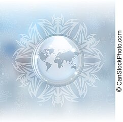 Snow globe with map