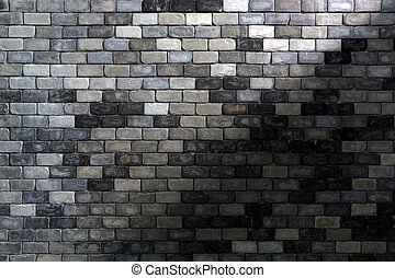 Abstract old brick background - Old brick wall with shadow...