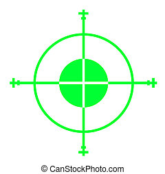 Gun sight - Green sniper gun sight cross hairs, isolated on...