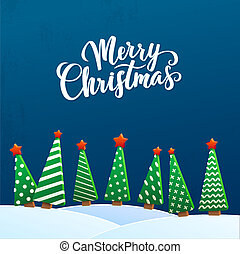 Christmas Greeting Card Merry Christmas lettering, vector...