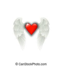 cuore, ali, angelo