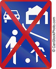 End of Residential Shared Zone sign in South Africa.
