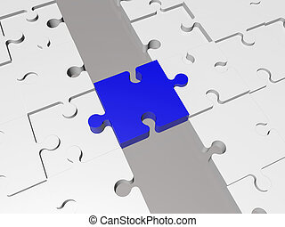 Concept with Puzzle pieces
