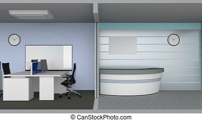 Animation of smart office building concept The smart offices...