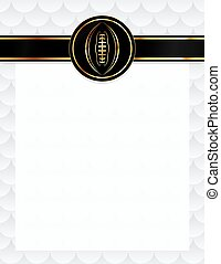 American Football Seal and Letterhead Illustration - An...