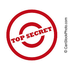 Top Secret Stamp - Top secret stamp in red circle, isolated...