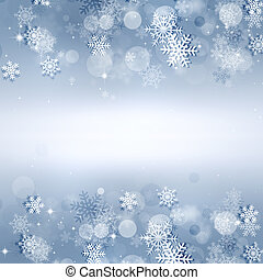 Holiday Snow Bright Background