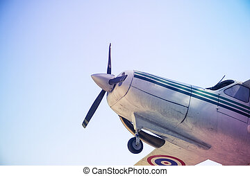 aircraft with a motor-driven propellers with filter effect...