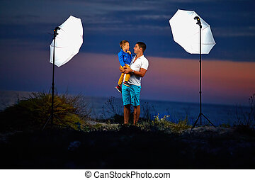 behind the scene, shooting outdoor portraits with flash...