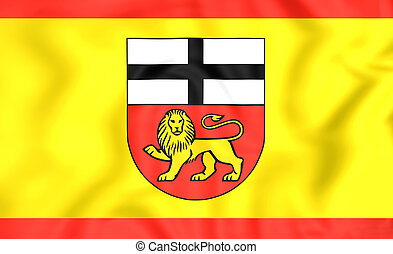 Flag of Bonn North Rhine-Westphalia, Germany - 3D Flag of...