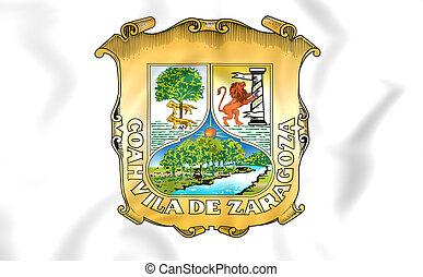 Flag of Coahuila, Mexico - 3D Flag of Coahuila, Mexico Close...