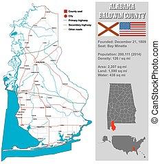 Baldwin County in Alabama