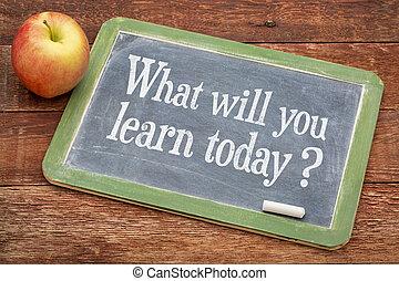 wille, heute, was, Sie, lernen