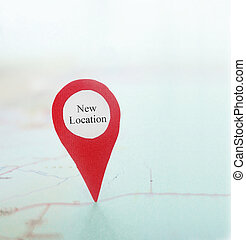 New Location locator pin on a map...