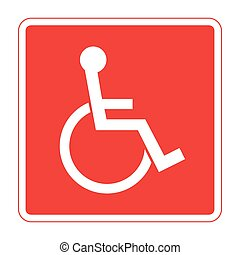 for the disabled - Disabled sign Handicapped person icon in...