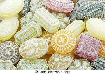Selection of candies, format filling