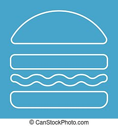 Burger thin line icon for web and mobile devices