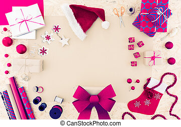Pink christmas accessiories - Pink christmas accessories and...