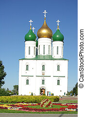 KOLOMNA, RUSSIA - Jule, 2014: The Assumption Cathedral in...