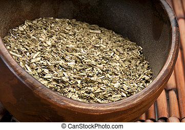 Bowl of yerba mate