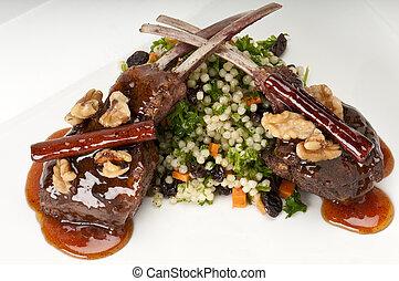 Lamb chops plate