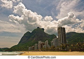 Tropical Sao Conrado Beach in Rio