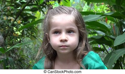 Solemn Young Girl