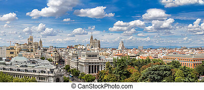 Plaza de Cibeles in Madrid - Aerial view Plaza de Cibeles in...