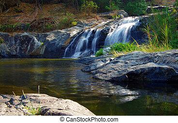 Khlong Lan Waterfall KAMPHAENG PHET, THAILAND - KAMPHAENG...