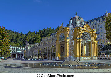 Main Spa Colonnade in Marianske Lazne - view Main Spa...