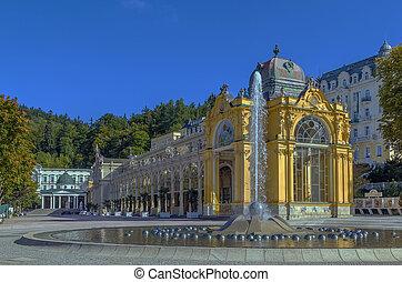 Main Spa Colonnade in Marianske Lazne - view Main Spa...