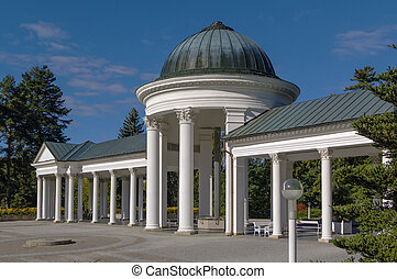 colonnade in Marianske Lazne - Carolina spring colonnade in...