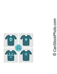 Life and choices. - Conceptual set of t-shirt print vector;...