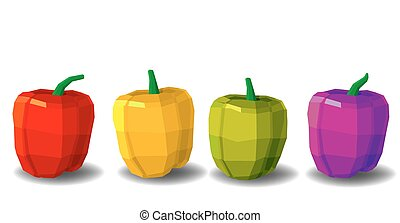 Different types of pepper.