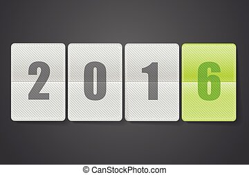 Diary with digits. Happy new 2016 year