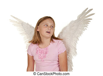 young girl with angel fairy wings - oh no i\'ve got wings...