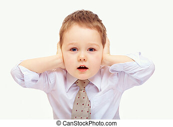 business child in stress because of problems